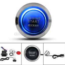Universal Car 12V Blue LED Engine Start Push Button Switch Ignition Starter Kits