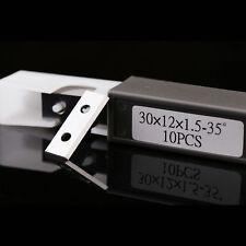 30mm Rectangular Wood Working Solid Carbide Insert Knives 2 Holes&Edges,10 pcs