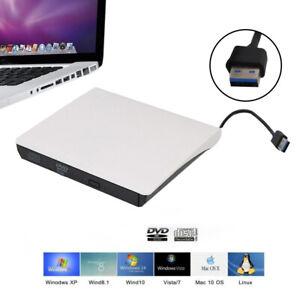 External USB 3.0 DVD ROM CD Writer Drive Burner Reader Player For Laptop PC UK