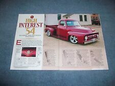 "1954 Ford F-100 Resto-Rod Pickup Article ""High Interest '54"" F100"