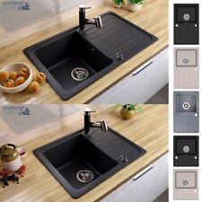 LINDBERGH® Granit Spüle mit Siphon Einbauspüle Küchenspüle KÜCHE Spül Becken