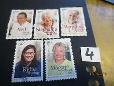NO--1--2014  --AUST;  COOKING  LEGENDS --5  STAMPS  --PERF;  --USED