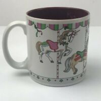 Christmas Carousel Horse Merry Go Round Russ Berrie Coffee Cup Mug 8193