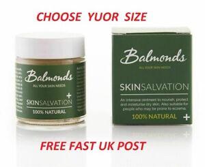Balmonds Skin Salvation - NATURAL -Choose 30ml  60ml 120ml - FREE FAST POST