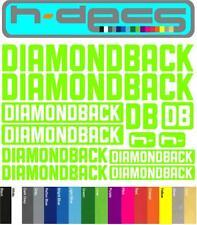 Diamondback T2 Die-cut decal sheet. (stickers, cycling, mtb, bmx, road, bike)