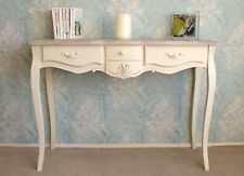 Casamore Devon 3 Drawer Cream Console Table French Inspired Shabby Chic Finish