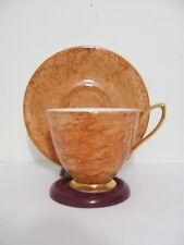 Royal Albert England Bone China Gossamer Pattern Tea Cup  & Saucer Brown