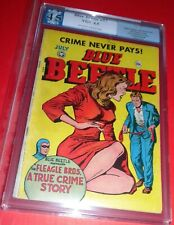 BLUE BEETLE #57 KAMEN COVER HANGING PANEL PRE CODE CRIME FOX 1948 PGX VG+ 4.5