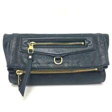 LOUIS VUITTON M93427 Monogram Empreinte Pettyant Clutch bag Leather Blue Green