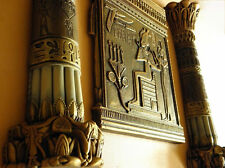 Bas-relief égyptien Osiris & deux colonnes autorship uniquement dans cette boutique JL