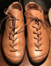 TRIPPEN Leather Mens Lace Up Shoes 8M / 41 Camel Color RARE!