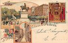 Cartolina - Postcard - Gruss aus - Saluti da - Genova - 1900 circa