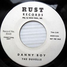 the DUVELLS doowop promo mint minus RUST 45 DANNY BOY b/w HOW COME DM725