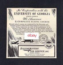 SOUTHEASTERN AIR SERVICE ATLANTA/ATHENS GEORGIA UNIVERSITY OF GEORGIA 1944 AD