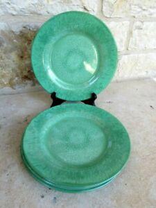 NWT Pier 1 Set of 4 Capri Melamine Salad/Accent Plates Green Watercolor