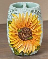 Sunflower Toothbrush Holder Country Farmhouse Floral Bathroom Decor