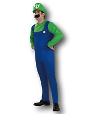 Adult Mens Mario Bros Luigi Costume Fancy Dress Plumbers Mate Stag Party