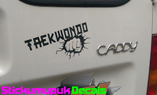 Taekwondo Car Bumper / Window or laptop sticker Vinyl Decal Choice of 15colours