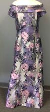 JADE COUTURE NWT Vintage Purple Floral Off Shoulder Formal Gown Sz 10 EE6725