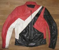 """ RABERG "" Herren- Motorrad - Kombi- Lederjacke / Biker- Jacke in ca. Gr. 50"
