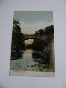 RAMHILL BRIDGE, URR vintage postcard posted Kirkpatrick Durham