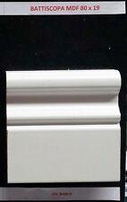 Zoccolino Battiscopa mdf Laccato Bianco disegno Barocco 80x19mm aste da 2,60mt