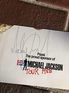 Michael Jackson autograph, Original BAD era signed, cut