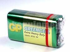 GP 9v Greencell PP3 6F22 6LR61 MN1604 9 V Block Heavy Duty Cell Battery x1