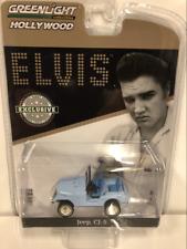 Elvis Presley Jeep CJ 5 1935 77 Sierra Blue 1:64 Scale Greenlight 29955