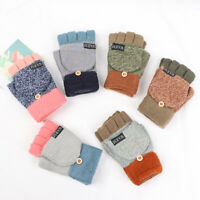 Half-finger Gloves Thickening Wool Gloves Knitted Glove Winter Warm Mittens