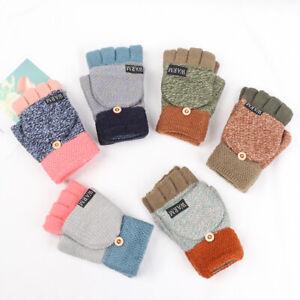 Half-finger Gloves Thickening Wool Gloves Knitted Glove Winter Warm Mittens
