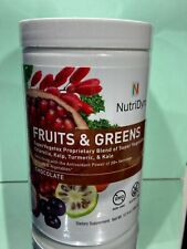 NutriDyn Fruits and Greens Chocolate Flavor  Powder Of 20+ Servings WT. 10.8 Oz.