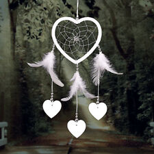 Handmade Heart Dream Catcher with Feather Wall Car Home Hanging Decor  B