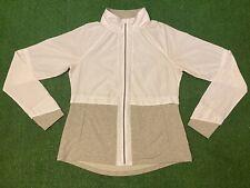 Avia Track Jacket Full Zip White/Gray Youth Kids Jacket Sz Medium (8/10)