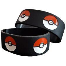 25mm Silicon Rubber Wristband - Pokemon Pokeball