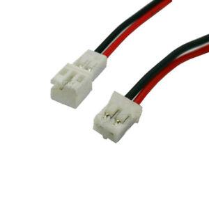 Pitch 2.0mm Mini Micro JST PH 2.0 2 Pin Male & Female Plug w./ Wired X10SETS