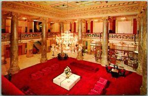 "Salt Lake City, Utah Postcard HOTEL UTAH ""Lobby View Dexter Chrome c1950s Unused"