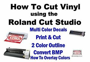 Roland GS-24 Print and Cut How To Instructions GX-24 Cricut Sillouette Cameo