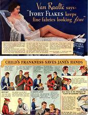 Van Raalte Slip Singlettes IVORY FLAKES DETERGENT Soap LINGERIE 1937 Magazine Ad