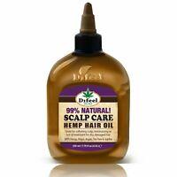 Difeel Hemp 99% Natural Hemp Hair Oil - Scalp Care 7.78 oz.