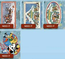Topps Disney Collect Card Trader Vintage Winter Wishes Complete Set Of 4