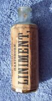 EARLY PONTIL BOTTLE, DR. BORDEAU'S HARTSHORN LINIMENT, ORIGINAL LABEL