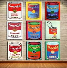"""Andy Warhol oil painting on canvas Pop art Campbell's soup 9 PCS set x 12x18"""""""