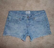 Aeropostale floral print ultra low rise cut-off jean short shortie shorts Size 0