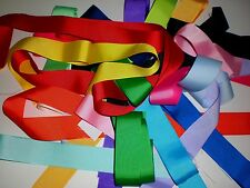 "1.5 "" INCH GROSGRAIN RIBBON SOLID COLORS SCRAPS 35 PIECES."