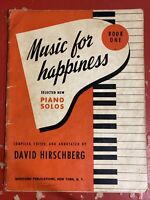 VINTAGE 1950'S MUSIC FOR HAPPINESS SELECTED NEW PIANO SOLOS SHEET MUSIC