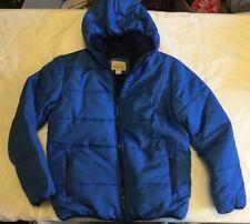 ROEBUCK BOYS M 10-12 JACKET COAT WINTER HOODED BLUE