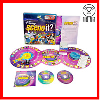 Disney Scene It Deluxe Edition Board Game 2x DVD Pixar Tin Case Quiz Trivia