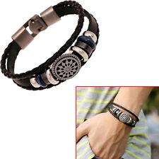 Retro Style Women Men's Bracelet Infinity PU Leather Charm Wrap Unisex Jewelry