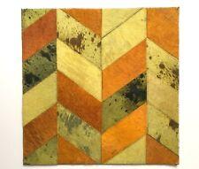 SURYA Rug Leather Hair on Hide Carpet Tile Hand Craft Yelllow Lime Saffron 18x18